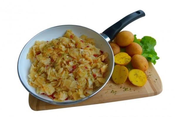 Bratkartoffeln mit Schinken - laktosefrei (Zubereitung in der Pfanne)